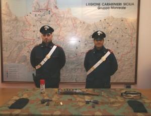 San Giuseppe Jato (Pa): deteneva armi nel suo ovile. Carabinieri arrestano pastore.