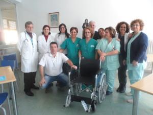 Il CE.S.R.A.M. di Guardavalle (Cz), grazie alla raccolta dei tappi di plastica, regala una sedia a rotelle all'ospedale di Soverato.