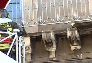 balcone caduto