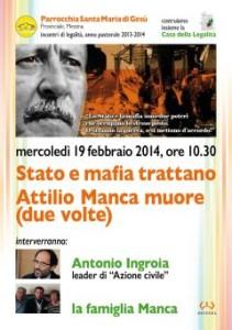 """""""Stato e Mafia trattano – Attilio Manca, muore due volte"""". Incontro domani a Messina."""