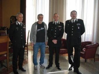 Messina. Visita a Palazzo Zanca del Generale Umberto Pinotti, Comandante Interregionale.