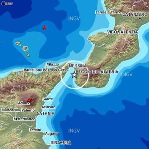 Lo Stretto di Messina colpito da una scossa sismica di magnitudo 2.9.