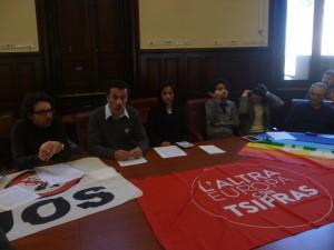 """Messina, presentati la Lista Tsipras """"L'altra Europa"""" e i candidati messinesi Olga Nassis e Antonio Mazzeo"""