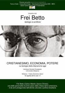 Lunedì 7 aprile alle 10 alla Provincia Conferenza stampa Incontro con Frei Betto