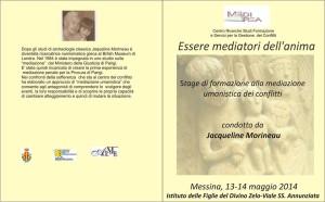 Messina, Conferenza e Stage di Mediazione Umanistica con Jacqueline Morineau il 12 e 14 maggio 2014.