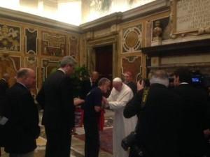 Sabato 5 aprile il sindaco Accorinti ha incontrato Papa Francesco in Vaticano.