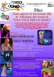 """Riparte il Festival """"Una voce per lo jonio"""". 8^ edizione."""