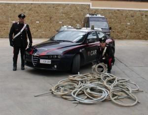 Cefalù (Pa): sorpresi a rubare cavi di rame. Arrestati dai Carabinieri.