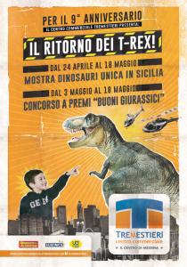 """Messina. I Dinosauri """"invadono"""" il Centro Commerciale Tremestieri."""