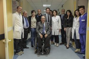 Messina. Massimo Mauro e Vincenzo Soverino (Presidente e Vice Presidente AISLA) in visita al Centro Clinico NEMO SUD