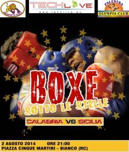 Pugilato. Appuntamento sabato 2 agosto a Bianco (Rc) per boxe sotto le stelle.