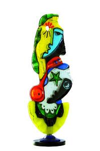 AMANTI,2011-scultura in vetro cm. 102x35