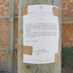 Ordinanza affissa