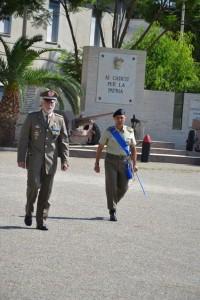 il Generale Marco Tuzzolino con il Tenente Colonnello Marcello  D'Agostino