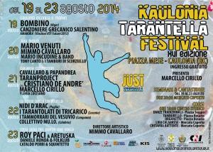 """Kaulonia Tarantella Festival 2014, XVI Edizione """"JUST TARANTELLA""""   dal 19 al 23 agosto a Caulonia (RC)"""
