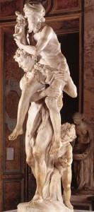 Enea - anchise - ascanio in fuga da Troia - scultura di Bernini