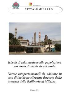 Scheda d'informazione rischi da Raffineria