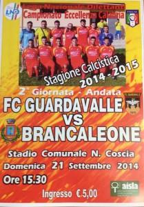 Calcio. Campionato di Eccellenza Calabria. Guardavalle – Brancaleone, domenica 21 ore 15.30