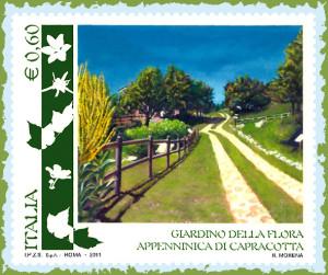 francobollo Giardino Flora Capracotta