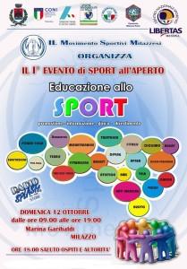 """Milazzo (Me). """"Educazione allo sport"""", un evento a Milazzo domenica 12"""