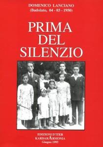 copertina libro PRIMA DEL SILENZIO 1995
