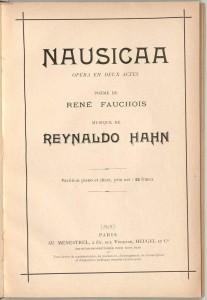 nausicaa poema musicale di Reynald Hahn 1919