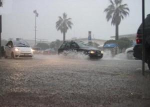 pioggia con auto