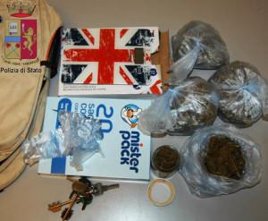 Messina. Arrestato dalla Polizia trentenne per droga. Trovato in possesso di 271 grammi di marijuana