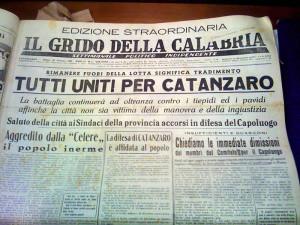 IL GRIDO DELLA CALABRIA quotidiano CZ 1950