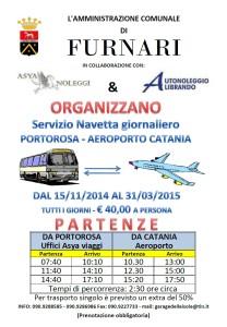 Portorosa Furnari (Me). Istituito il servizio di navetta giornaliero Portorosa-Aeroporto Catania