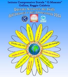 """Gli allievi dell'Istituto Comprensivo """"G. Moscato"""" di Gallina (RC) celebrano la """"Giornata Internazionale dei Diritti dell'infanzia e dell'adolescenza"""""""