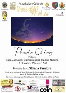 locandina PREMIO ORIONE 2014