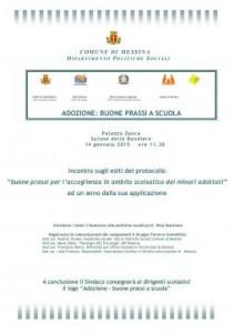 """Messina. Protocollo """"Buone prassi per l'accoglienza in ambito scolastico dei minori adottati"""": incontro domani a Palazzo Zanca"""