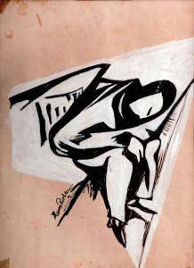 Hans Richter, Sleeping man, 1914 gouache cm