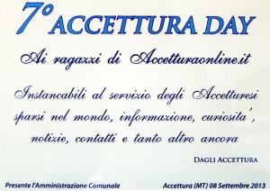 accettura day 7 anno 2013