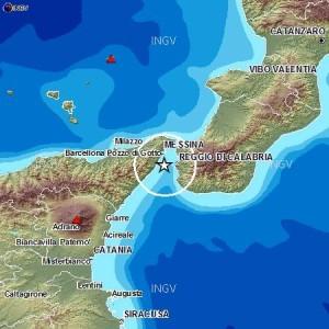 Tremano Reggio Calabria e Messina. Stamattina alle ore 8:17 scossa di magnitudo 3.1
