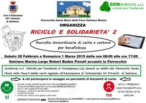 Satriano Marina (Cz). La parrocchia organizza una raccolta straordinaria di carta e cartone per beneficenza. Un tablet per l'Associazione Ali D'Aquila.