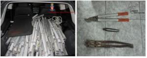 Palizzi Marina (Rc). Tre giovani denunciati dai Carabinieri: trasportavano circa 200 Kg di rame della rete Telecom