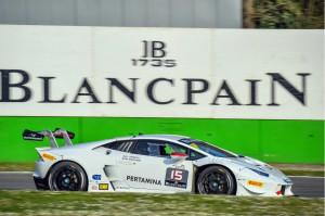 Moscato in azione nel Lamborghini SuperTrofeo a Monza (1)