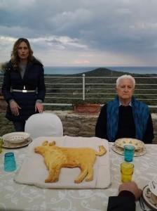 Salvatore Mongiardo e il bue di pane per RAI UNO LINEA VERDE marzo 2015 Squillace