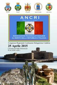Placanica (Rc). Il Congresso Regionale Costituente dell'ANCRI ha eletto il Cav. Agostino Geracitano Presidente del Direttivo Regionale.