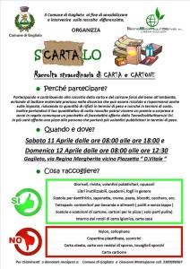 "Gagliato (Cz). ""Scartalo"" primo weekend ecologico.Raccolta straordinaria di carta e cartone."