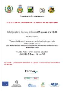 LE POLITICHE DEL LAVORO ALLA LUCE DELLE RECENTI RIFORME - locandina Formez ...