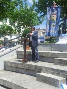 PROTESTA TAXI ROMA PRO OSPEDALE AGNONE 09.05.2015 - Parla sindaco Belmonte del Sannio Enrico Borrelli