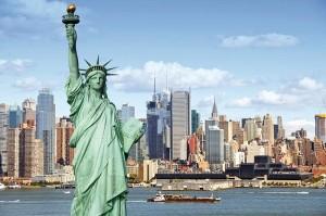 new-york con statua libertà
