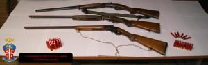 Platì (Rc). Rinvenimento di armi e cartucce: due fucili con matricola abrasa e uno asportato nel 2010 da un'abitazione in Provincia di Parma.