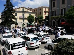 protesta taxi roma pro ospedale agnone 09.05.2015 piazza unità italia