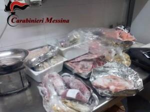 Barcellona P.G. (Me) controlli dei carabinieri con i Nas, denunce per tre titolari di esercizi di ristorazione, sequestrati 22 kg di alimenti.
