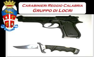 Caulonia (Rc). Aggredisce e minaccia un amico al termine di una cena, utilizzando un coltello e una pistola giocattolo: 33enne denunciato dai Carabinieri.