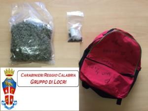 Denunciati in stato di libertà un 21enne e un 16enne di Caulonia Marina (Rc), per detenzione ai fini di spaccio di sostanze stupefacenti.